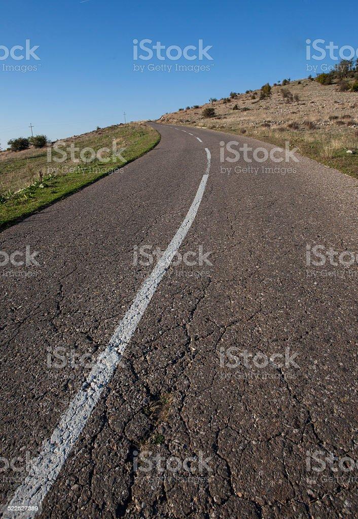 Montaña vacía carretera de asfalto foto de stock libre de derechos