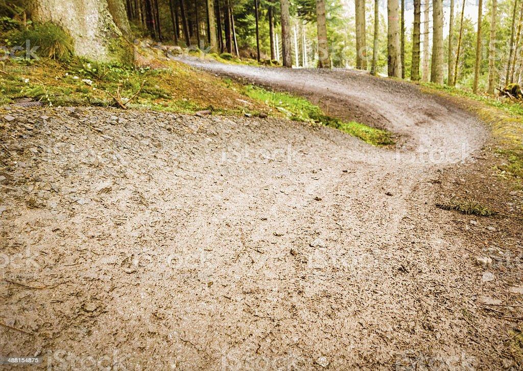 Empty Mountain Bike Track stock photo