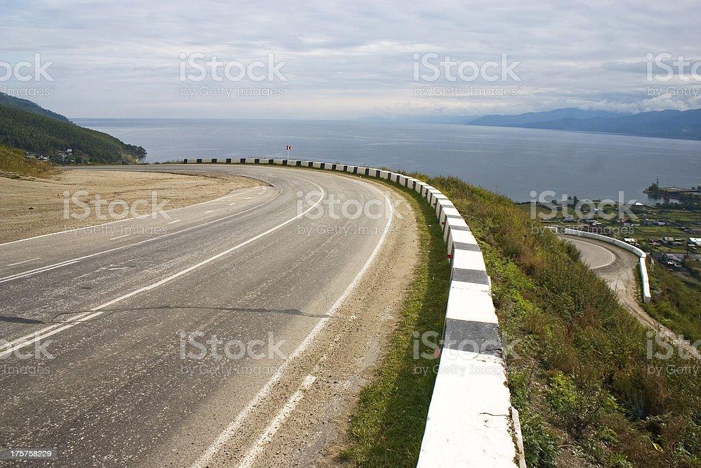 Empty mountain road. royalty-free stock photo