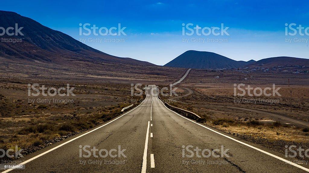 empty mountain road stock photo