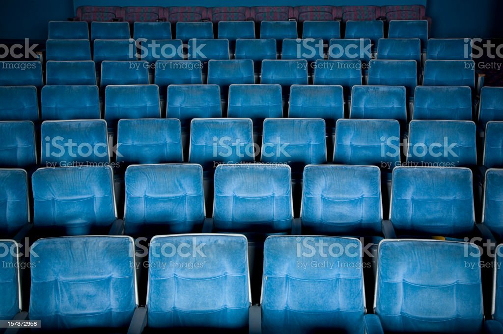 Empty Movie Theater stock photo