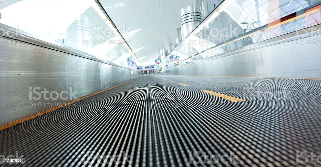 empty moving walkway royalty-free stock photo