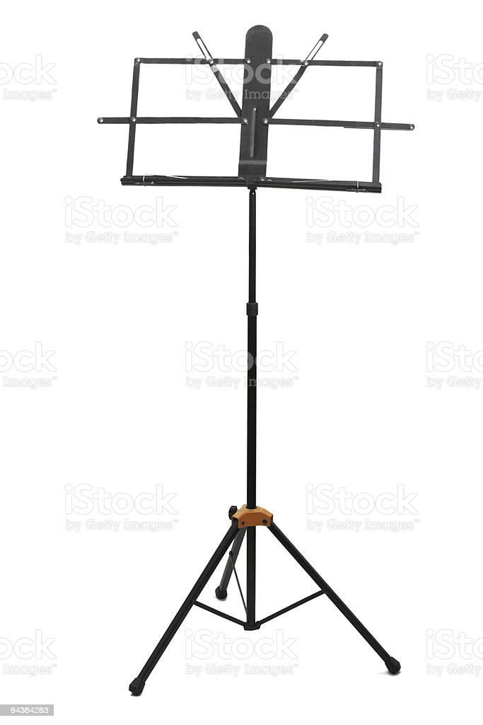 Empty music stand isolated royalty-free stock photo