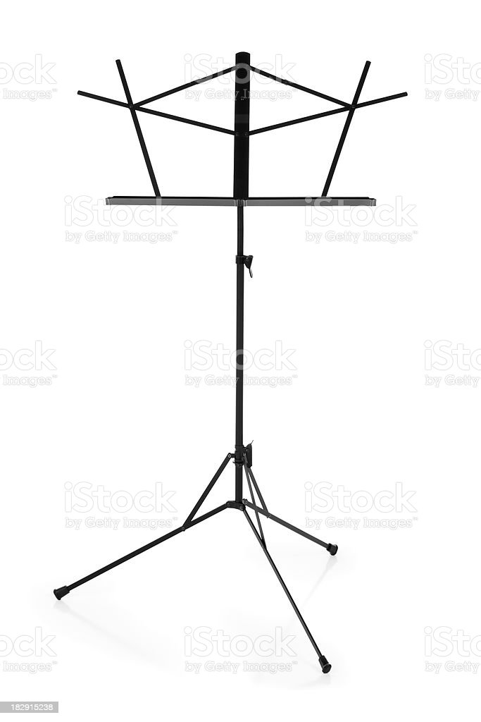 Empty Music Stand stock photo