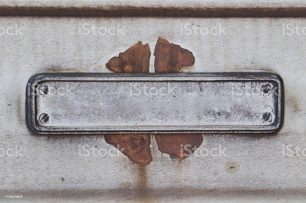 empty nameplate stock photo