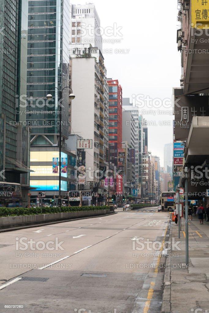 Empty Nathan Road stock photo