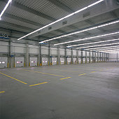 Empty new fabrication hall