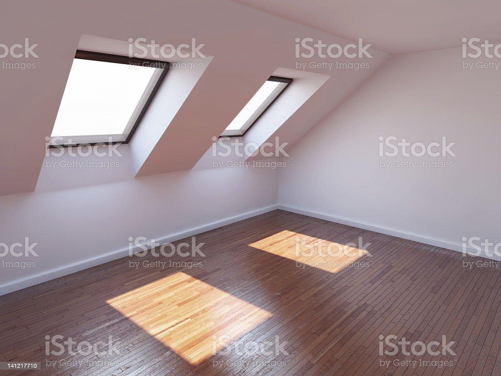 Empty new room stock photo
