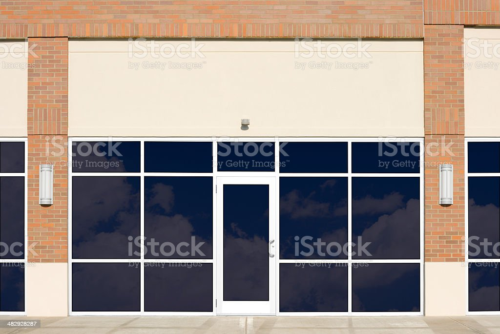 Empty New Store Front stock photo