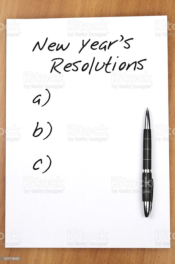 Empty new year resolutions royalty-free stock photo