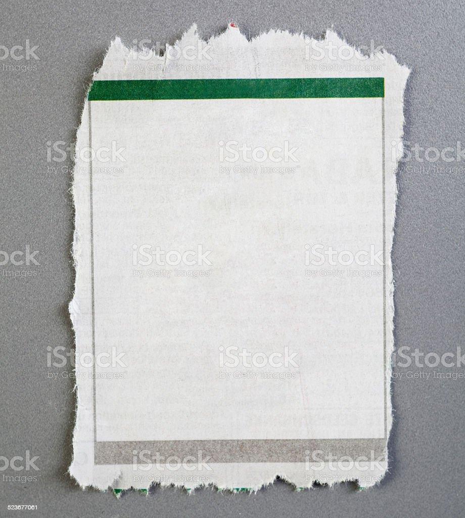 empty newspaper announcement stock photo