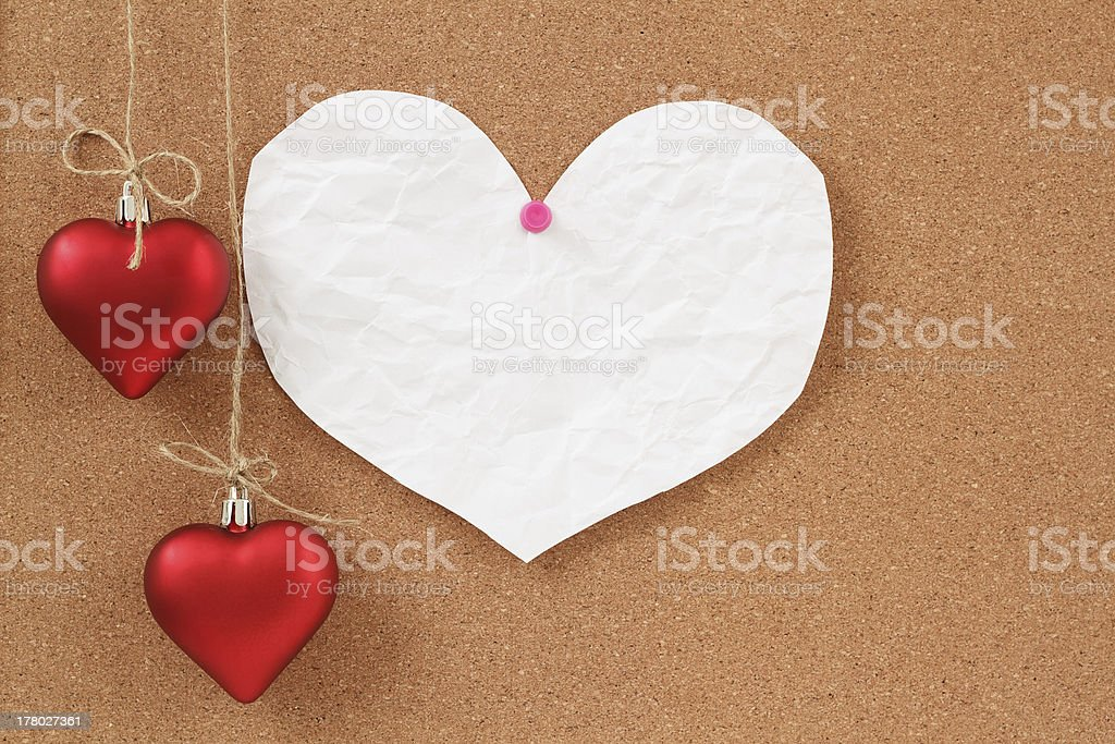 empty note for valentine message royalty-free stock photo