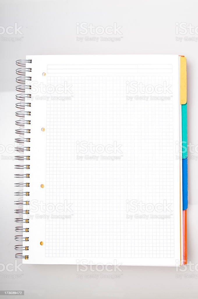 empty notebook royalty-free stock photo