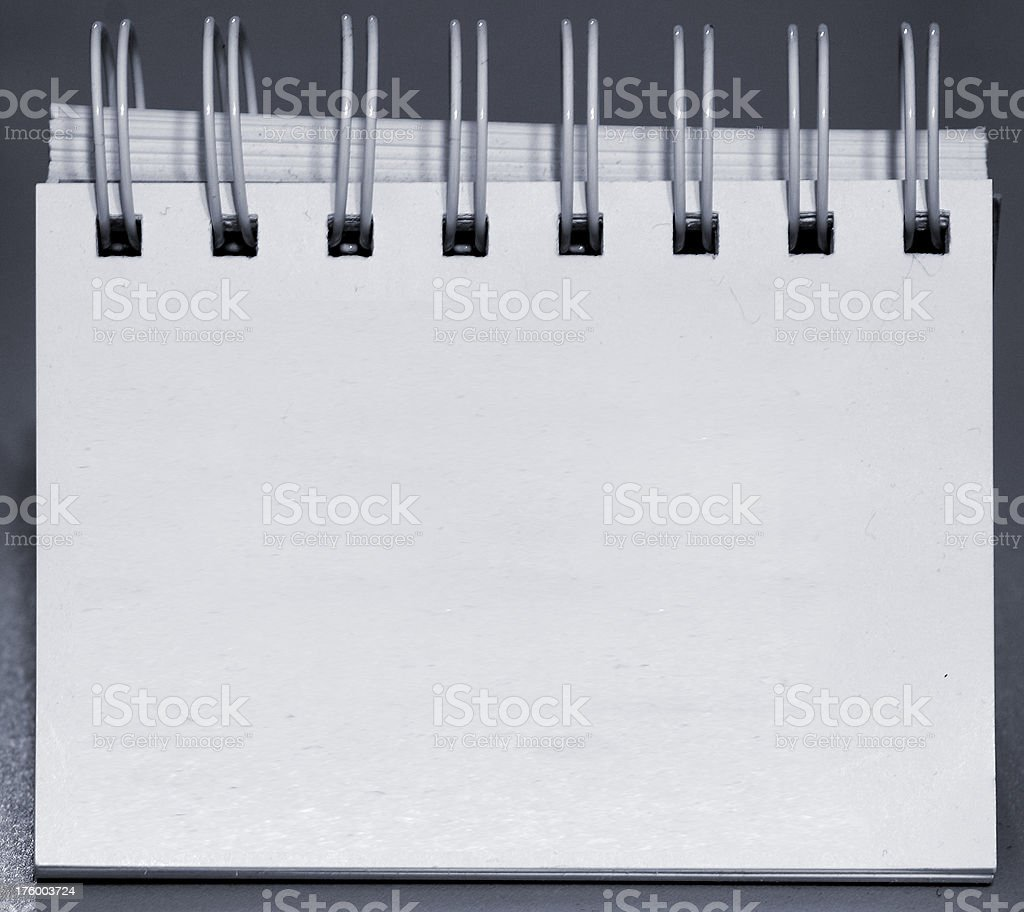 empty notebook stock photo