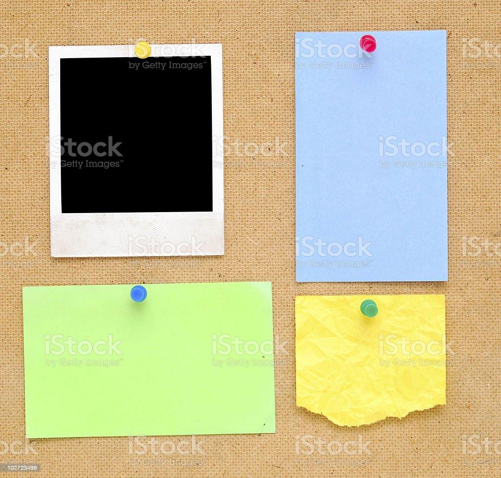empty notes stock photo