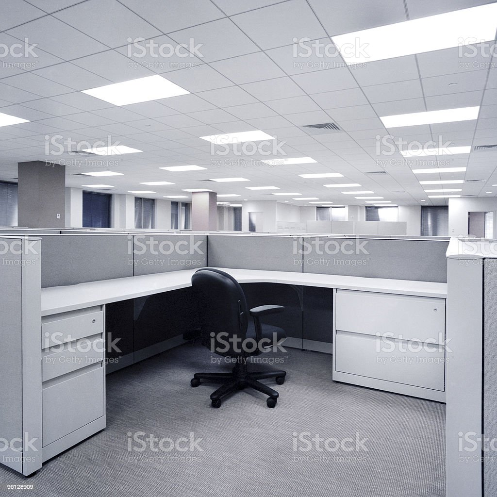 Empty Office Cubial stock photo