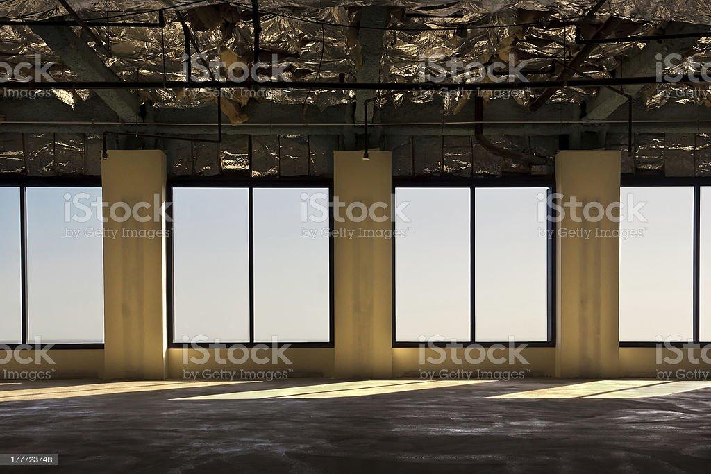Empty Office Floor royalty-free stock photo