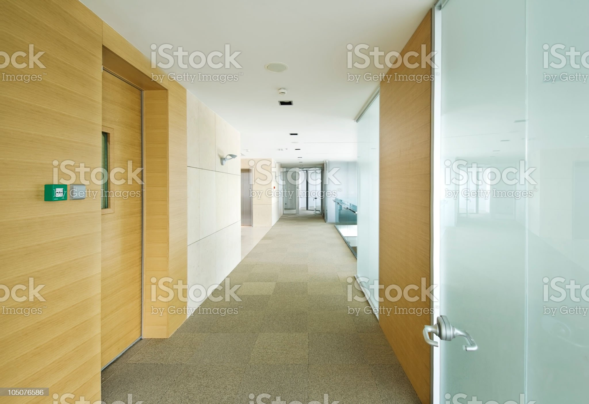 Empty office hall. royalty-free stock photo