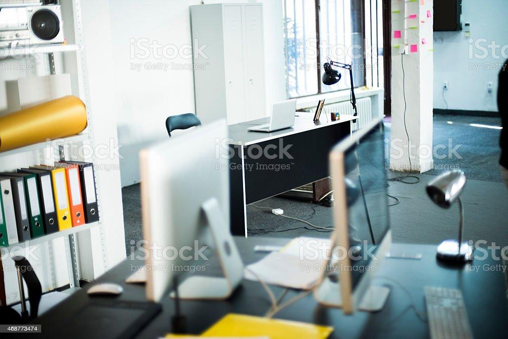 Empty office stock photo