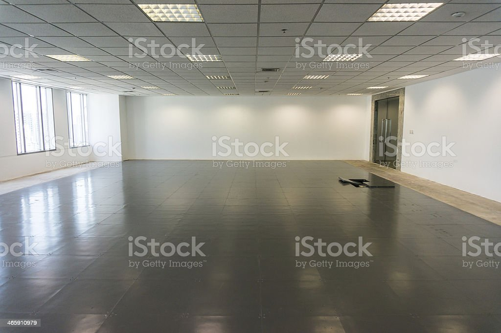 Empty  office room for rent stock photo