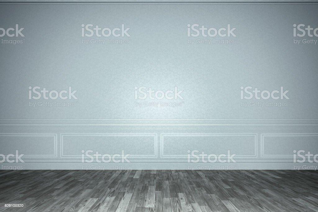 Empty old castle room stock photo