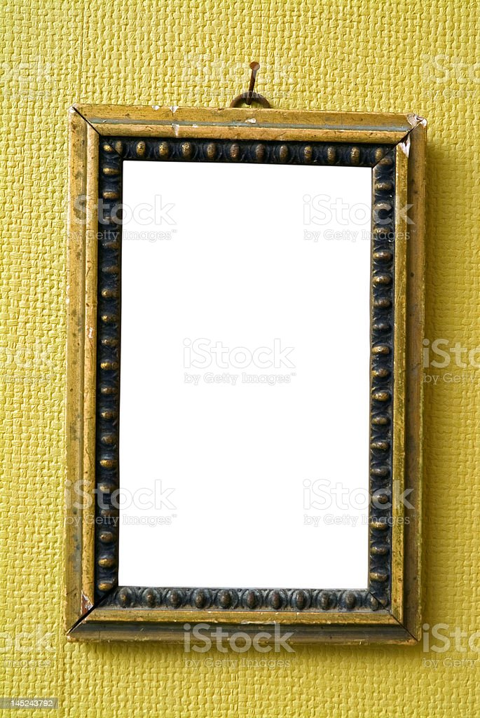 empty old frame royalty-free stock photo