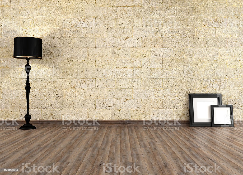 Empty old interior royalty-free stock photo