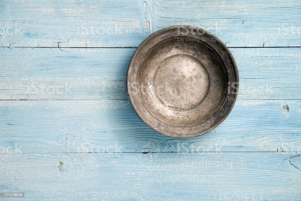 Empty old plate stock photo