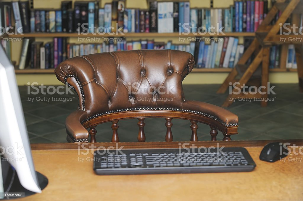 Empty old-fashioned study royalty-free stock photo