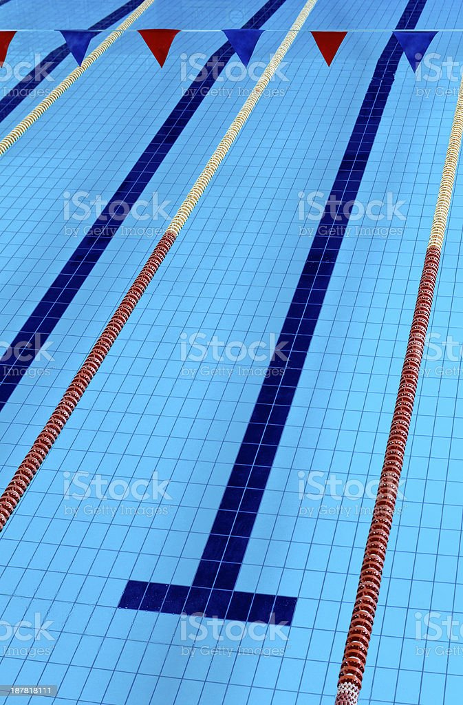 Empty Olympic Swimming Pool royalty-free stock photo
