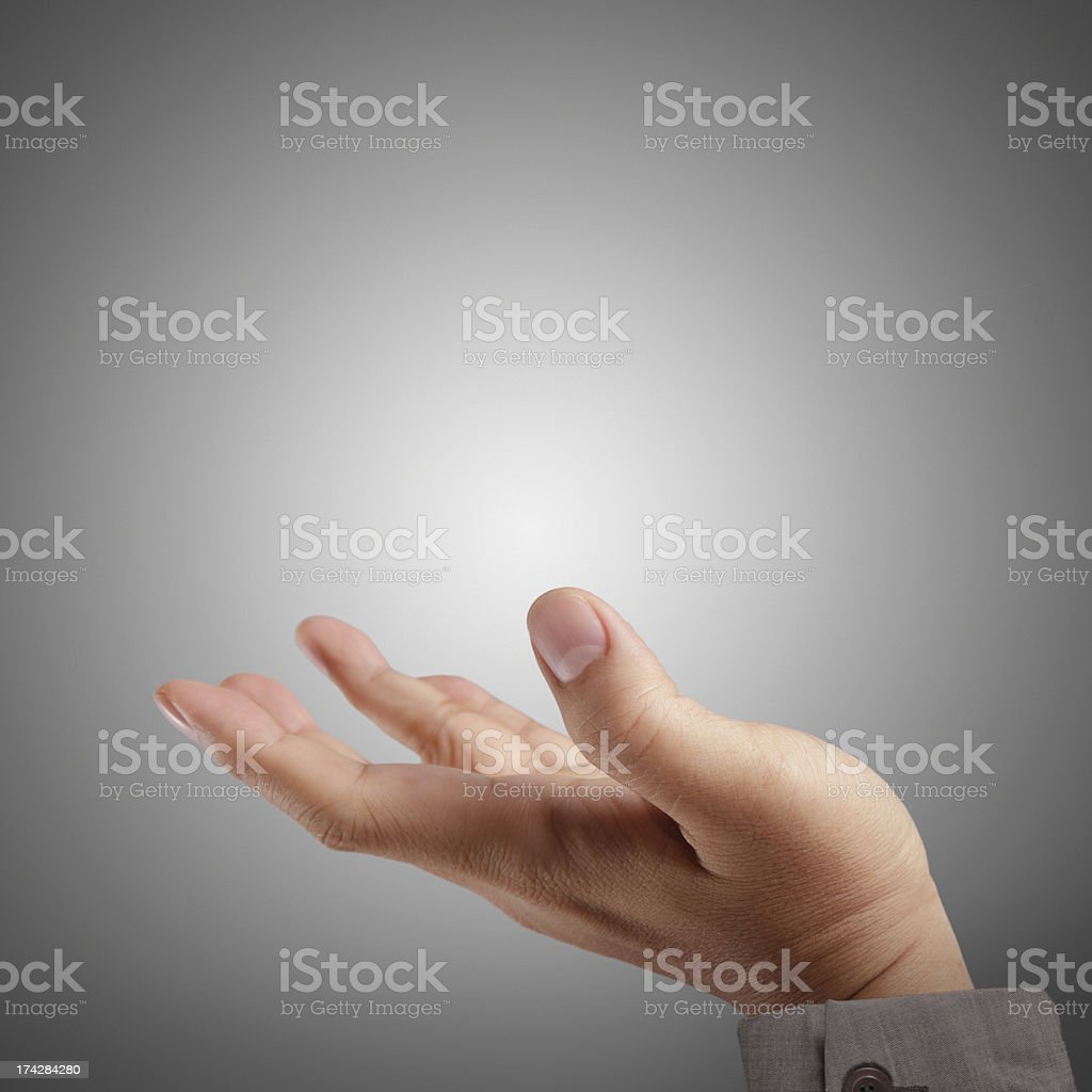 Empty open hand royalty-free stock photo