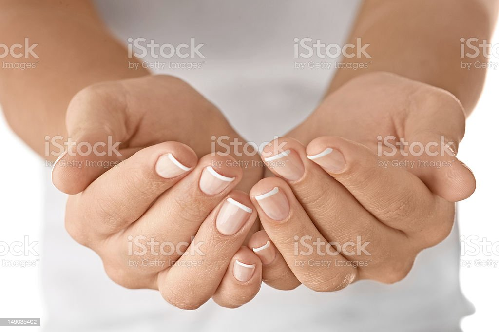Empty open hands royalty-free stock photo