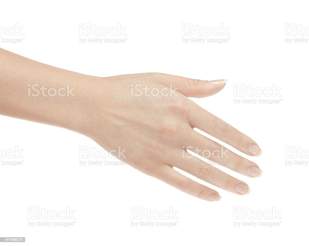 Empty open woman hand stock photo