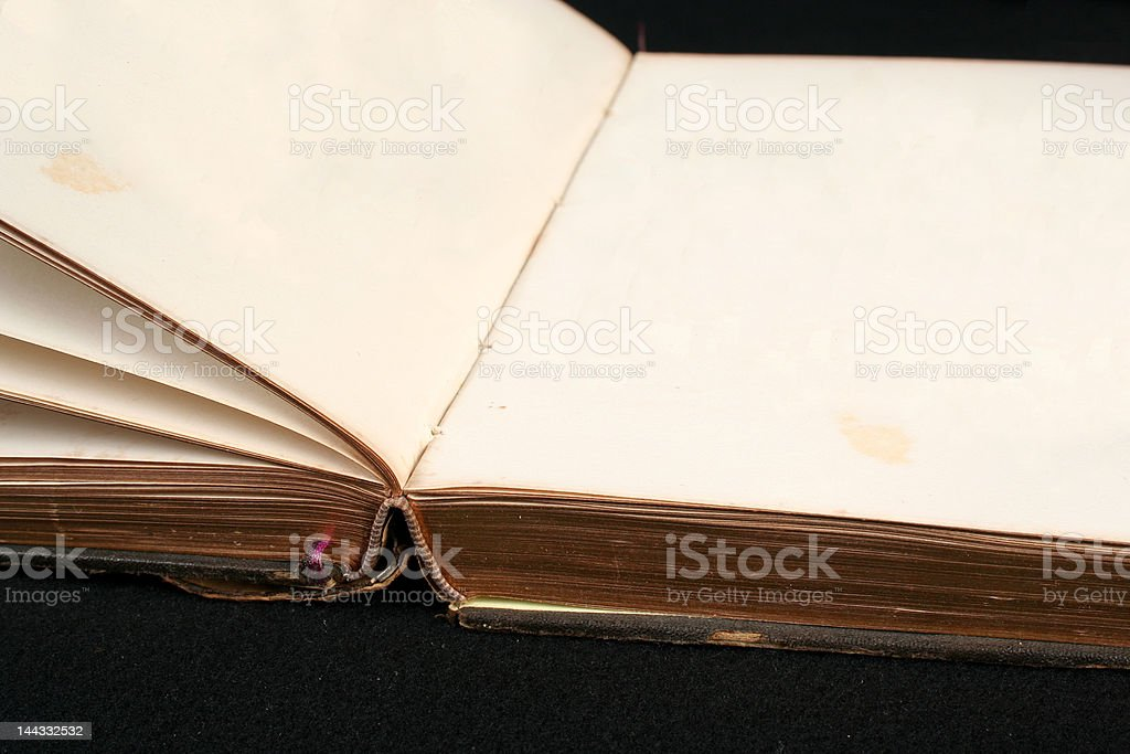 empty pages in an old book royalty-free stock photo