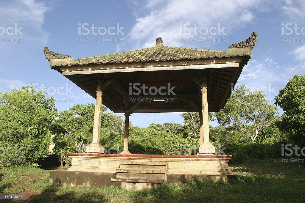 Empty Pagoda In Bali royalty-free stock photo