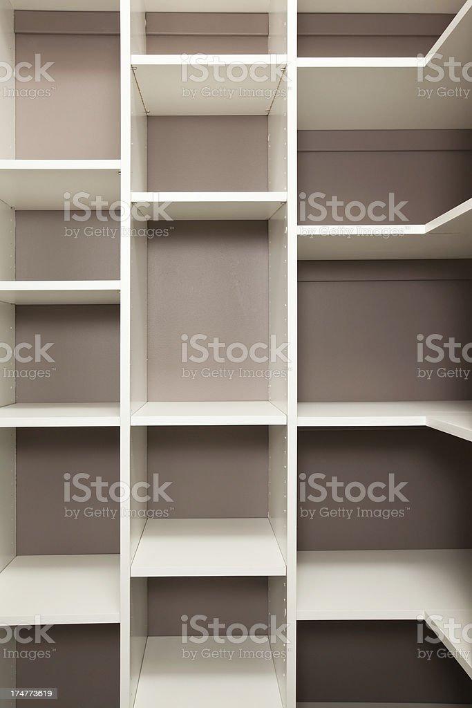 Empty Pantry or Closet Storage Cubbies stock photo