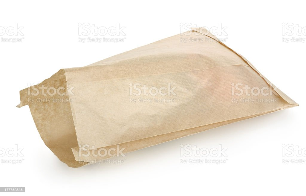 Empty paper bag royalty-free stock photo