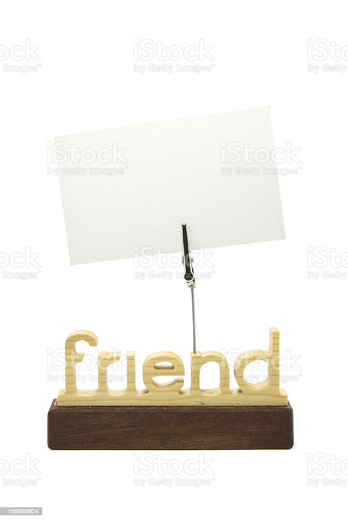Empty paper on memo holder royalty-free stock photo