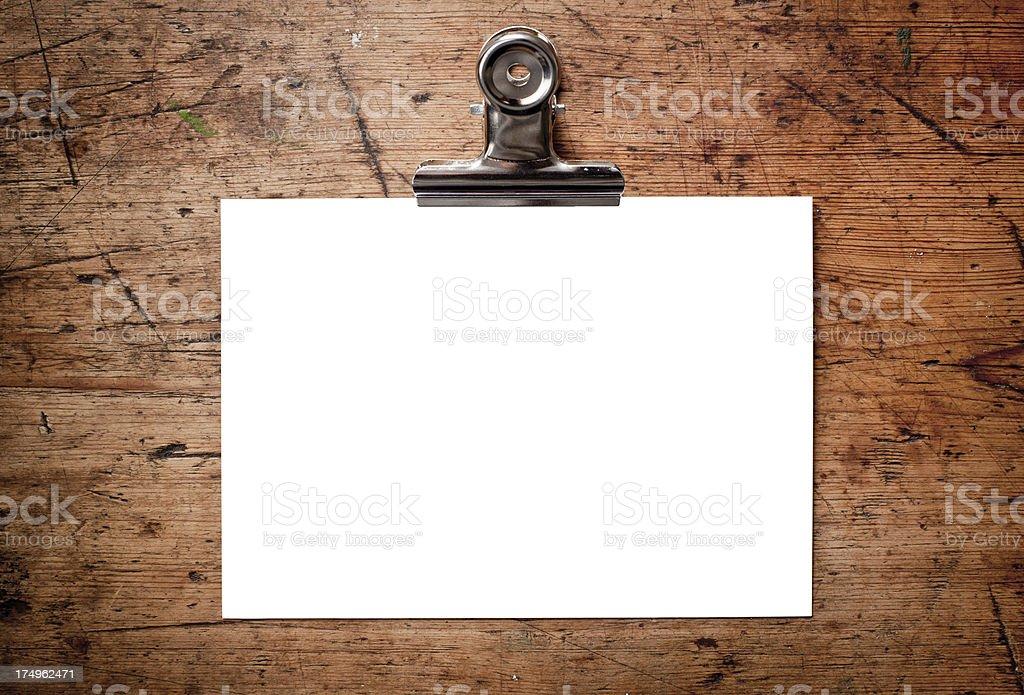 Empty paper royalty-free stock photo