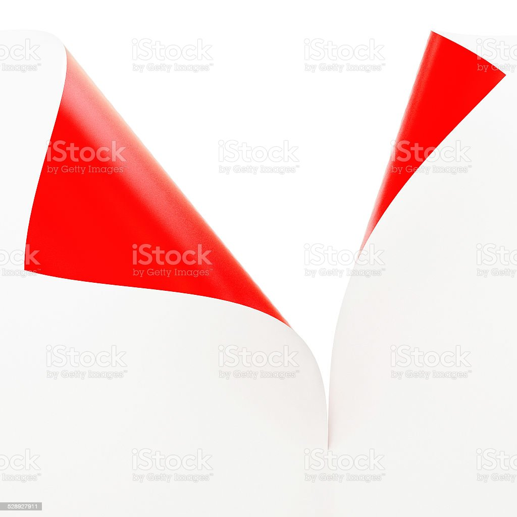 Empty paper sheet , White and Red Illustration stock photo