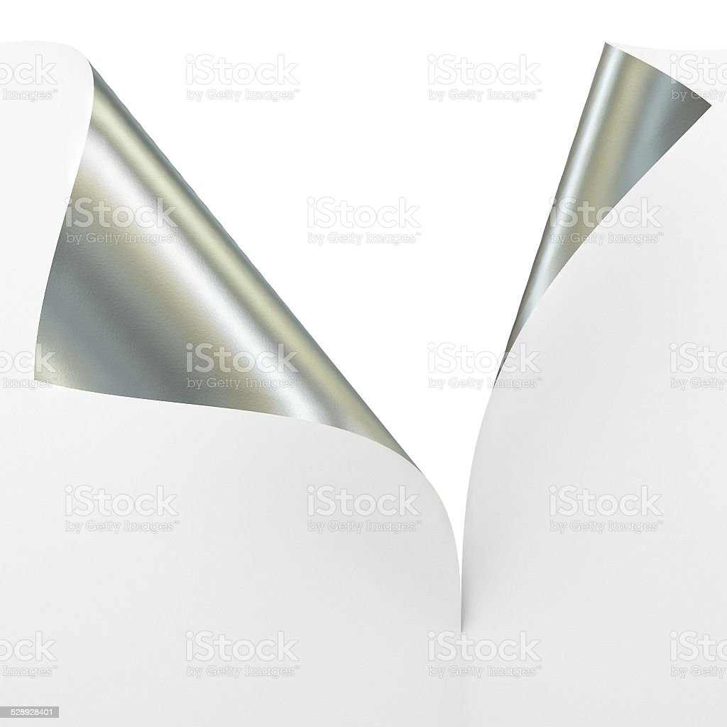 Empty paper sheet with 2 Sided Materials, stock photo