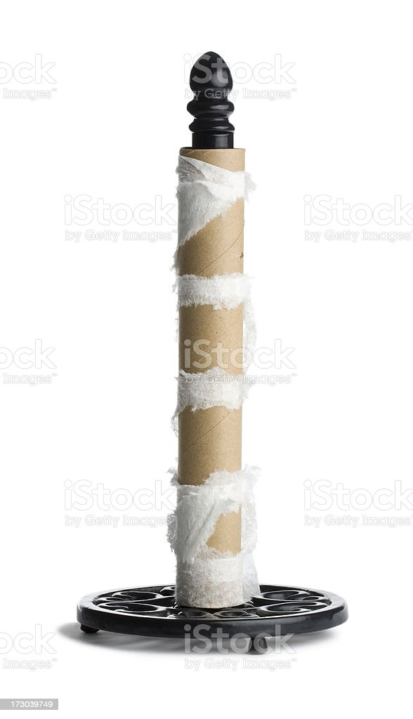 Empty Paper Towel Roll stock photo