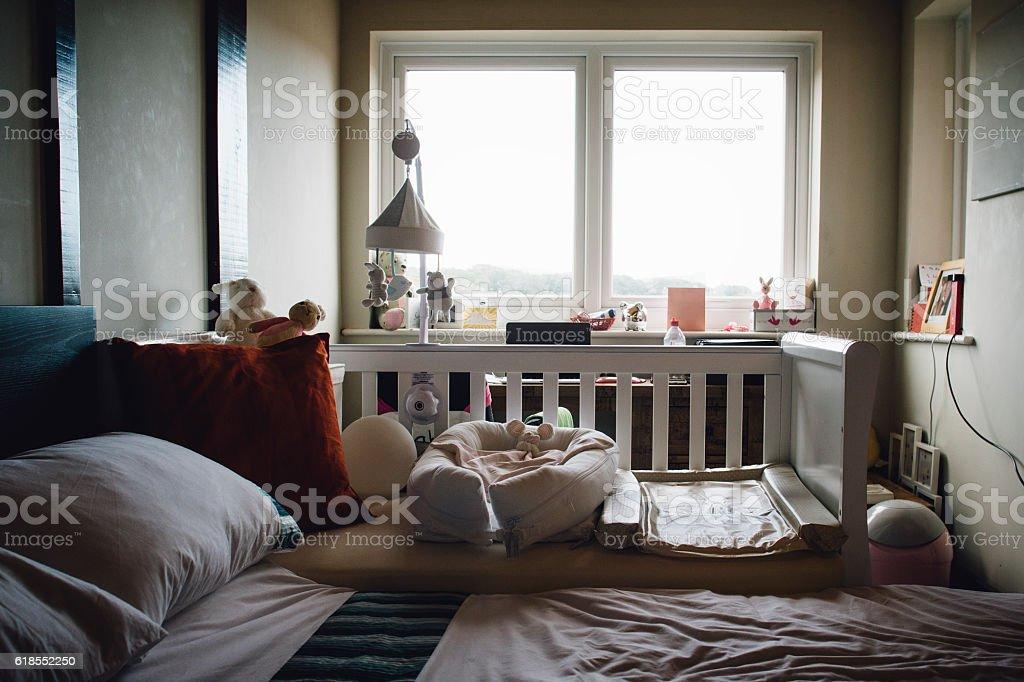 Empty Parent's Room stock photo