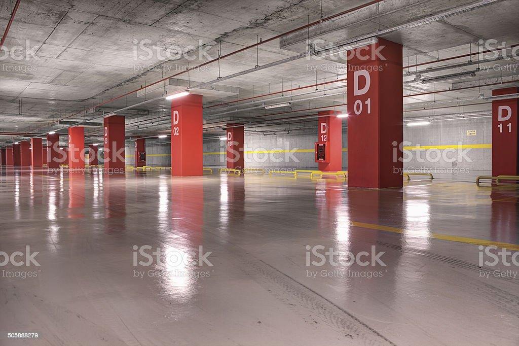 Empty Parking Garage, Basement Underground