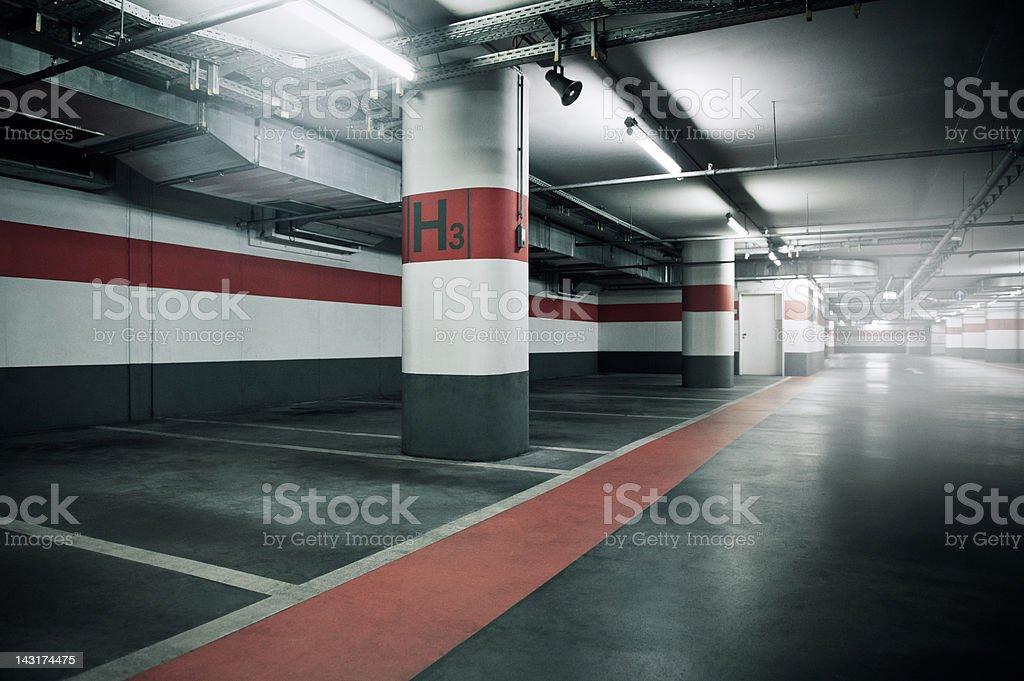 Empty Parking Garage stock photo