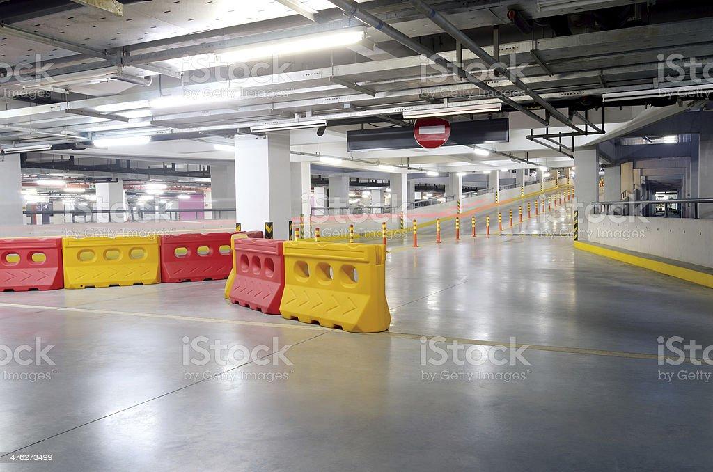 Empty Parking garage royalty-free stock photo