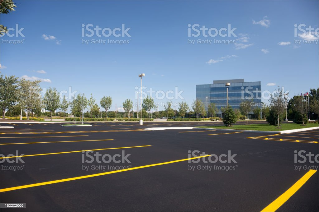 Empty Parking Lot stock photo