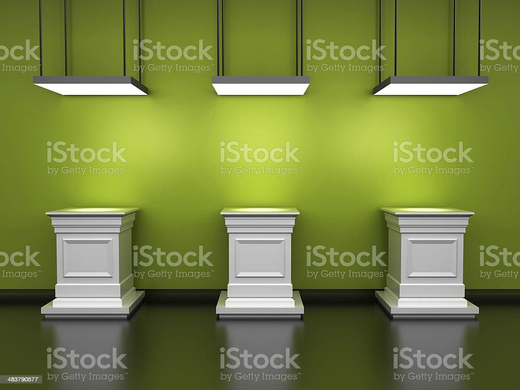 Empty Pedestals royalty-free stock photo