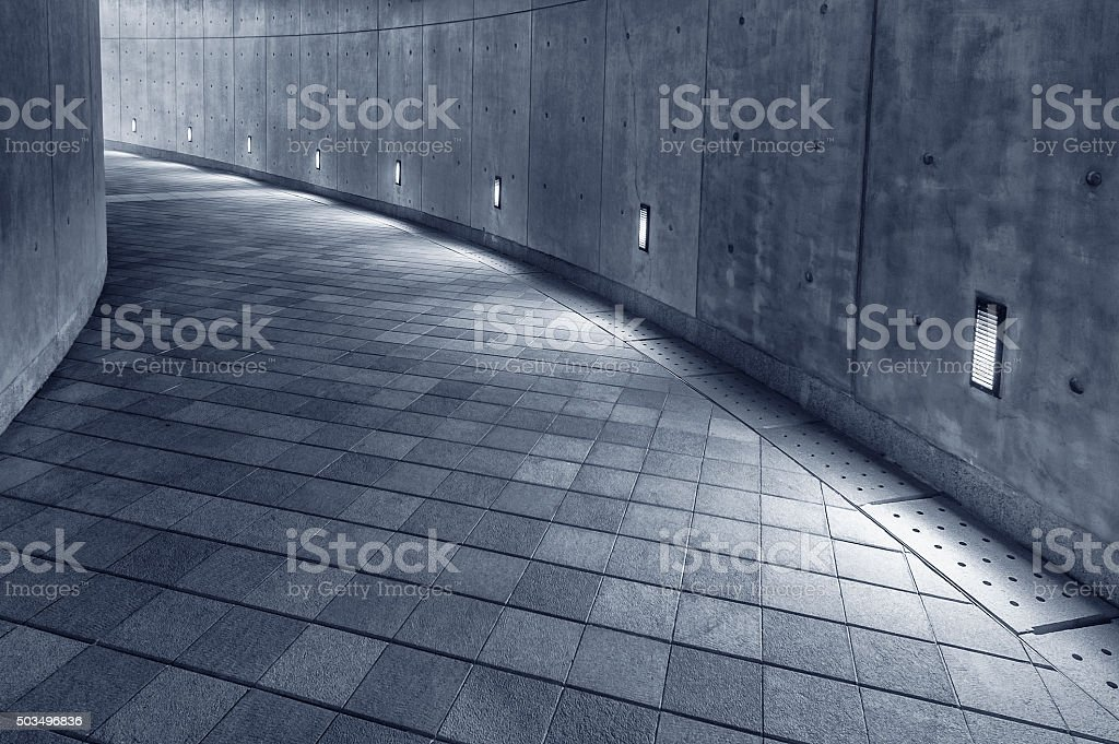 Empty pedestrian walkway stock photo