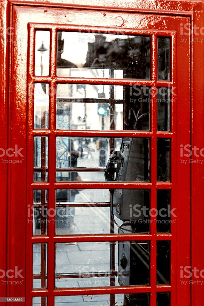 Empty phone booth royalty-free stock photo